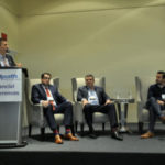 Yves Rebetez, Conference Chair and Editor, ETF Insight moderates the ETF Discussion Panel with Chris Doll, Invesco PowerShares, Ray Dragunas, Aligned Capital Partners and Dave Nugent, WealthSimple at the 4th Annual ETF Conference in Toronto, November 29, 2017